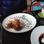 'Happy Birthday' dessert