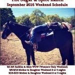 September 2016 Schedule