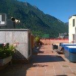 terrasse avec jaccuzzi