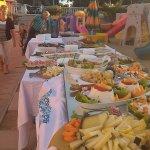 buffet sulla spiaggia