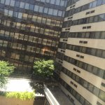 View of the hotel and Courtyard from my room on the 5th floor