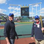 Dad and I at Kauffman Stadium