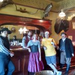 Belly up to the bar boys. A picture at the Long Branch Saloon at the Old Town Dodge City Museum.