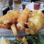 Bar food fish and chips