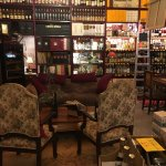 cozy seating arrangement at the bar