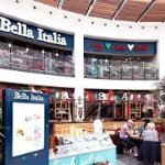Outside of Bella Italia in the Arndale Centre.