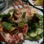 Half a lobster salad