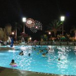 You can see the park's fireworks show from the main pool. Magical!