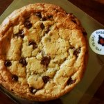 Baggin's big cookie for dessert
