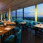 Restaurant Konrad's auf der 17. Etage des Bonn Marriott World Conference Hotel
