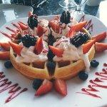 Fresh fruit waffle