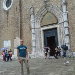 Facciata della bellissima Basilica Santa Maria dei Frari