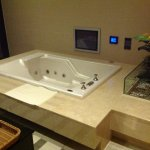 Jacuzzi with in wall TV