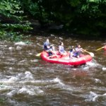 Rafting on the Lehigh River which is walkable from the Inn