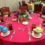 Table set-up for our family reunion Fiesta Pool Party! Catering, decor and staff was excellent!