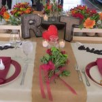 Winery wedding setting, the head table