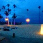 Gabi Beach at Paradisus Palma Real lights up each night