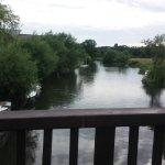 view from footbridge