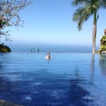 The pool was cool and refreshing with a spectacular ocean view.