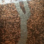 The floor at Keuka Artisan Bakery. Those are pennies and nickels.