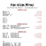 pan asian menu