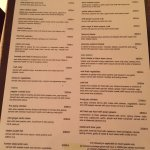 Menu at Wild Ginger. Fabulous food. Ate there 6 nights out of 8 nights we were there.