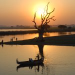 Sunset at U Bein Bridge. Good to spend time with coconut water and finger food
