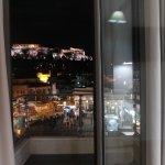 Vista de la Acrópolis desde el balcón de la habitación