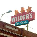 Wilder's roof sign