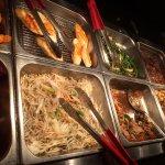 Asian Food. Veggies. Tofu. Meat