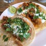 Pork Tinga and Spicy Chicken tacos