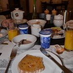Breakfast, First course: Muesli, yogurt, delicious bread & jam