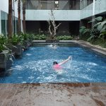 Warm water private swimming pool for Executive Rooms (on 6th floor) The water is warm on Saturda
