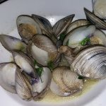 "My friend""s clams came with pasta. Where is it?"