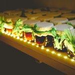 мини-баночки с органическими джемами:)