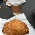 Ham n cheese croissant and coffees