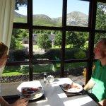 Breakfast overlooking Croagh Patrick