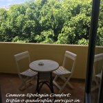 vista giardino interno: camera comfort