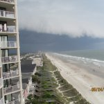 Storm rolling in over Myrtle Beach