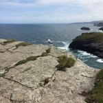 Walk around Tintagel castle