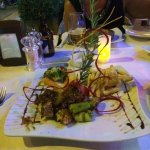 Dinner at the hotel restaurant, delicious!