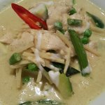 Satay Chicken, Cashew Nut Chicken and Green Curry