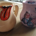 The mugs we painted!