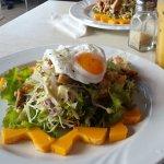 Chicken and papaya salad at BNHQ