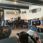 Frühstücksraum im Halligcafé Blauer Pesel