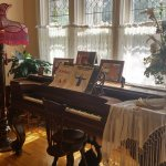the lounge with 100 year old piano