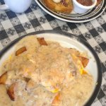 country bubba benedict- oh my this gravy is wonderful!