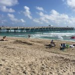 A good size concrete pier built after the last hurricanes. The beach is huge.