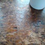 abgeschabte Oberflächen