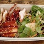 Teriyaki Combo Chicken Breast/Salmon w/ Rice and Salad